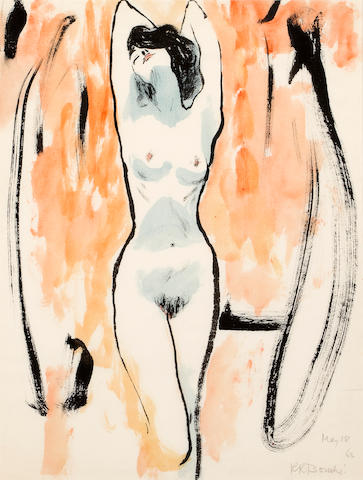 René Robert Bouché (French, 1905-1963) Nude 24 x 18 in. (60.9 x 45 cm.) sight.