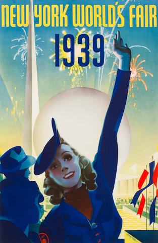Albert Staehle (American, 1899-1974); New York World's Fair 1939;
