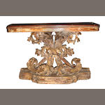 A Rococo style paint decorated console table