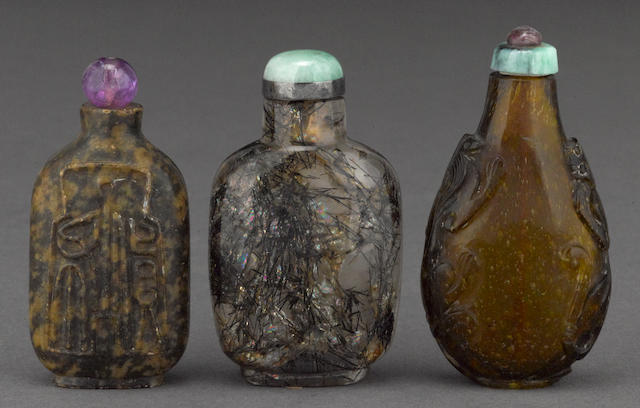 Three snuff bottles