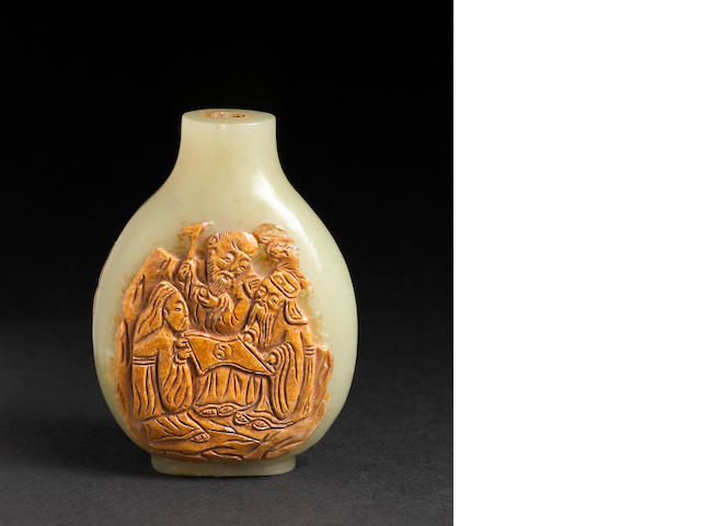 A fine yellow jade snuff bottle  1790-1860