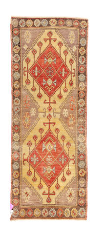 An Oushak rug West Anatolia size approximately 8ft. 4in. x 3ft. 6in.