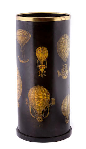 A Neoclassical style stencil decorated umbrella stand