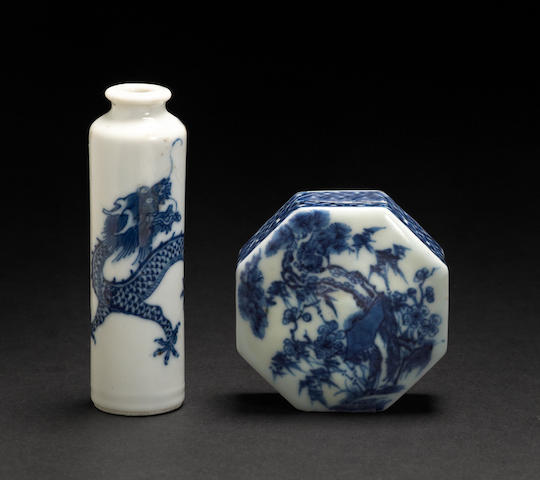 Two blue and white porcelain decorations 18th/19th century