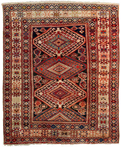 A Shirvan rug Caucasian, late 19th century approximate size 4ft 1in x 5ft