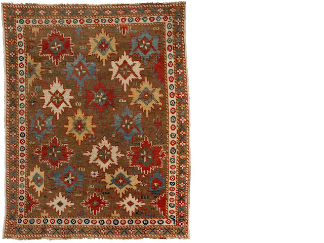 A Kazak rug<BR />Caucasus, circa 1900 approximate size 4ft 6in x 3ft 7in (137 x 109cm)