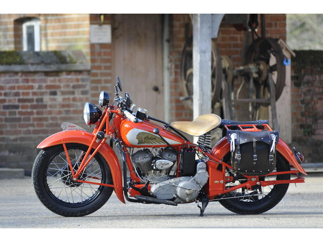 1936 Indian Sports Scout Engine no. ECE 991