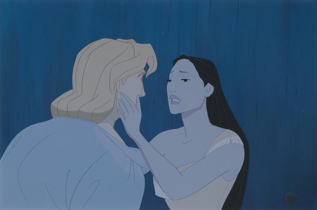 A Walt Disney celluloid form Pocahontas