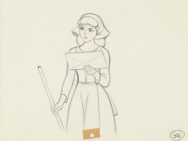 A Walt Disney drawing from Cinderella