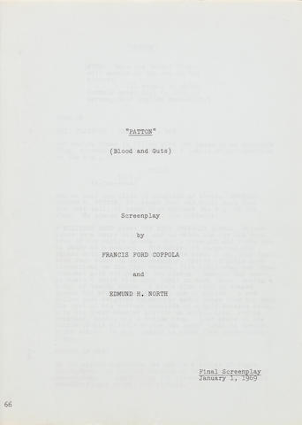 A final screenplay for Patton