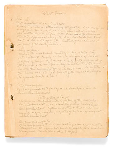 A handwritten script for The Trail of the Silver Spurs