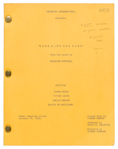 A master file copy of Gone With The Wind