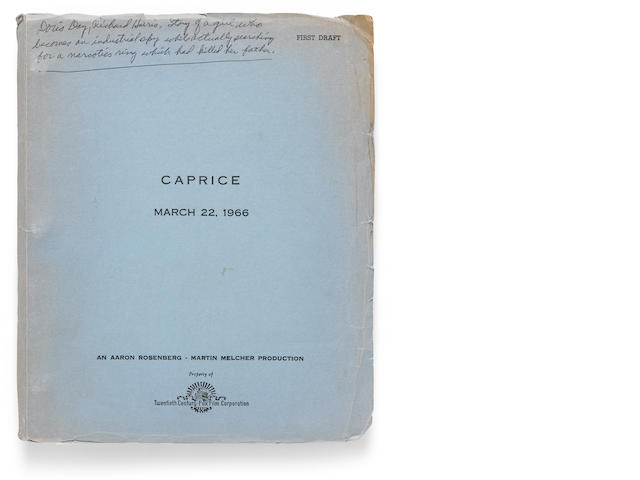 A storyboard script and first draft for Caprice