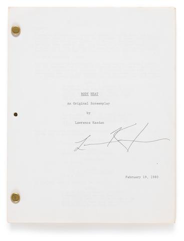 A Body Heat signed script