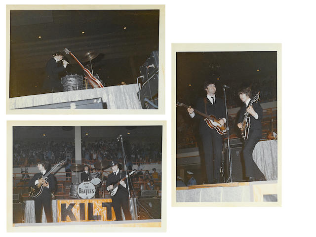 3 candid Beatles photos from August 19, 1963 in Houston, TX.