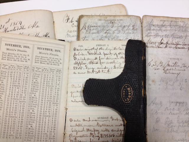 CIVIL WAR DIARIES. Group of Civil War diaries,