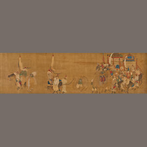 Anonymous, Mongolian scene  16th/17th century
