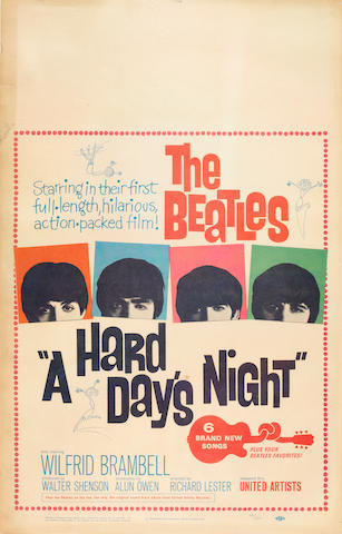 "A Hard Day's Night"" Beatles poster"