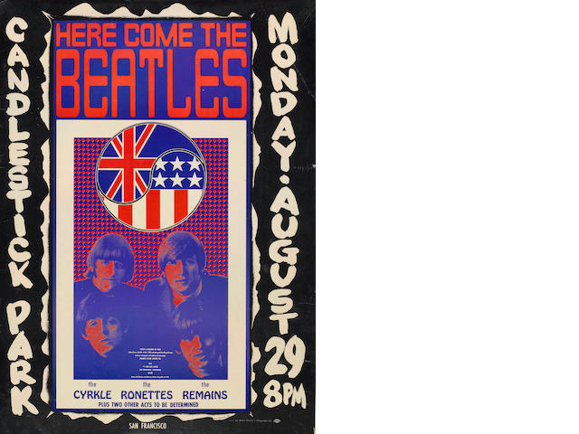A Beatles promotional poster for Here Come the Beatles