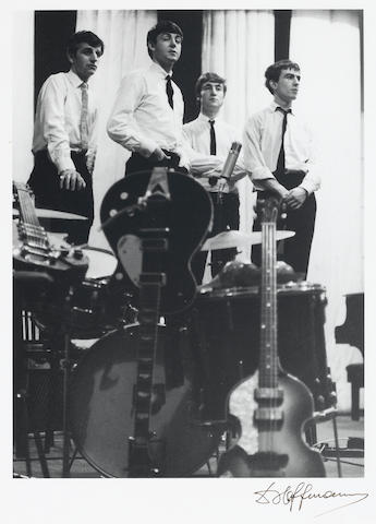 A Robert Freeman vintage black and white photograph of the Beatles