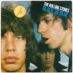 A Ron Wood autographed The Rolling Stones Black and Blue album