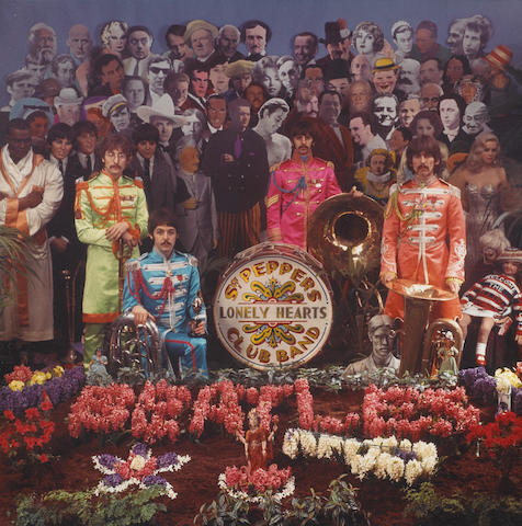 A Beatles Sgt. Pepper's Lonely Hearts Club Band alternate cover photograph