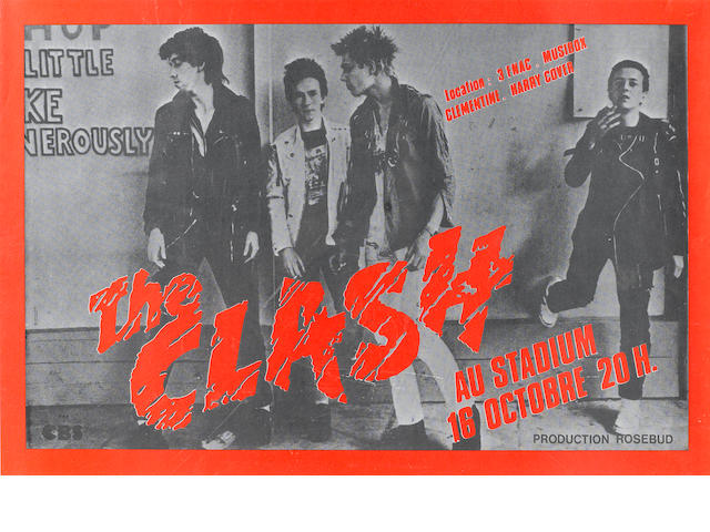 The Clash Au Stadium concert poster