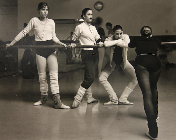 Jock Sturges (American, born 1947); Ballet Class gelatin silver print 1981;