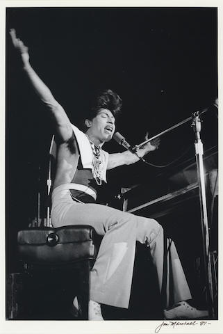 Little Richard photo by Jim Marshall, sgd.
