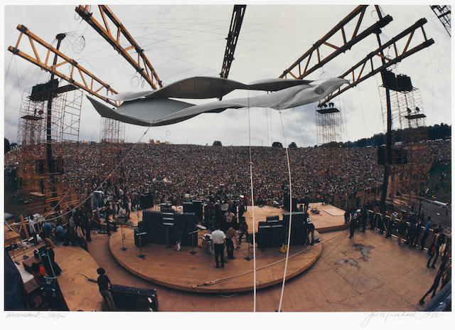 Woodstock photo by Jim Marshall, sgd.