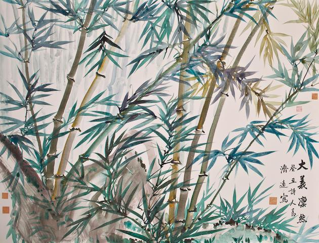 Wang Jiyuan (1893-1975) Bamboo, 1973
