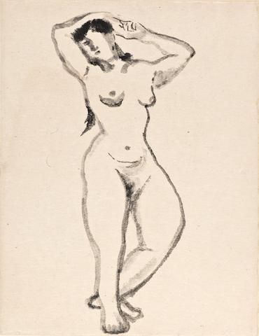 Wang Jiyuan (Wang Chi-Yuan, 1893-1975)  Nude sketches