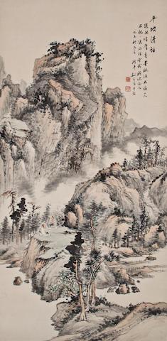 Yao Zhongbao (1870-1924)  Landscape, 1919
