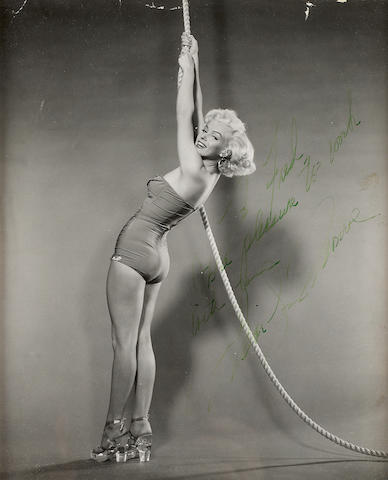 A Marilyn Monroe signed photograph