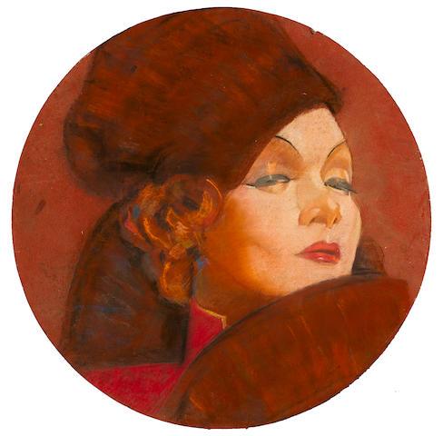 A Marlene Dietrich portrait