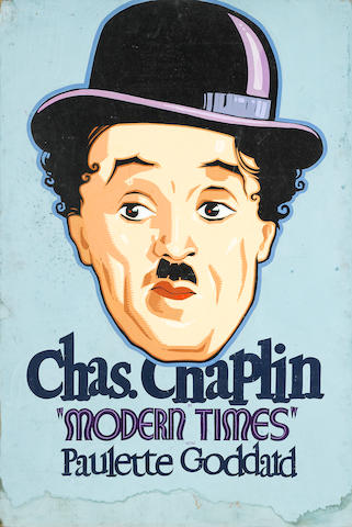 An original promotional painting for Modern Times