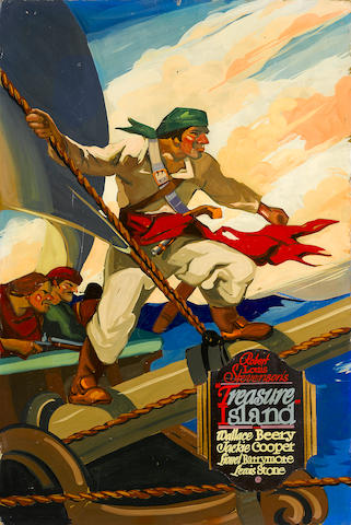 An original promotional painting for Treasure Island