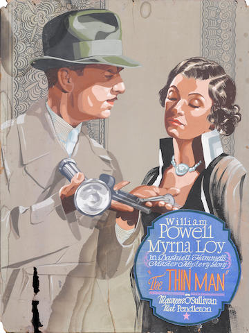 An original promotional painting for The Thin Man