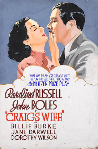 An original promotional poster for Craig's Wife