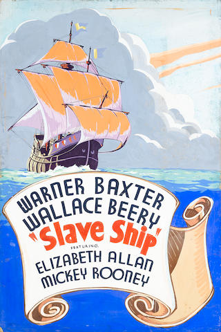 An original promotional painting for Slave Ship