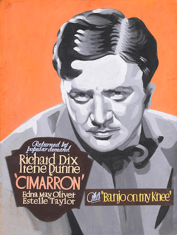 Richard Dix and Irene Dunne, Cimarron, RKO, 1931, together with Richard Dix portrait
