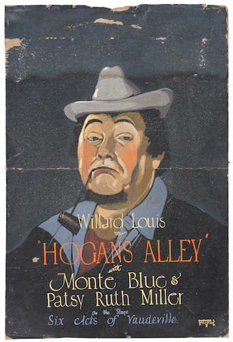 SILENT FILM: Monte Blue and Patsy Ann Miller, Hogan's Alley, Warner Bros., 1925; Willard Louis, Hogan's Alley, Warner Bros., 1925; Warner Baxter with guitar, probably from In Old Arizona, Fox, 1928; Warren Baxter personality portrait in hat