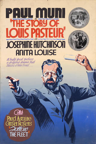 A group of 3 promotional paintings for The Story of Louis Pasteur