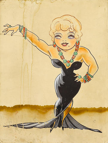 A Mae West caricature portrait