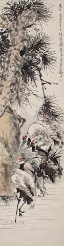 Zhu Wenhou (1895-1961)  Cranes, 1930