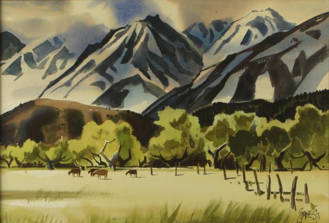 Milford Zornes (1908-2008) La Sierra Nevada, 1971 20 x 29in