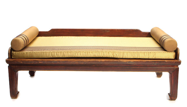 A Chinese mixed wood daybed