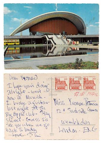 A Jimi Hendrix postcard