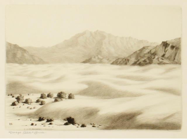 George Elbert Burr (American, 1859-1939); Dunes near Palm Springs, Calif;