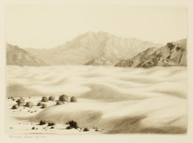 George Elbert Burr (American, 1859-1939); Dunes near Palm Springs, Calif;